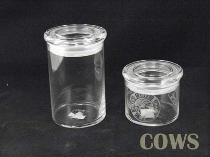 glass canister candy jar jar with lid laser engraved gift